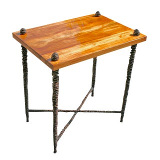 Cast Bronze Giacometti Style Side Table