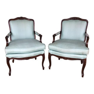 Louie XV Formal Slipper Chairs - A Pair