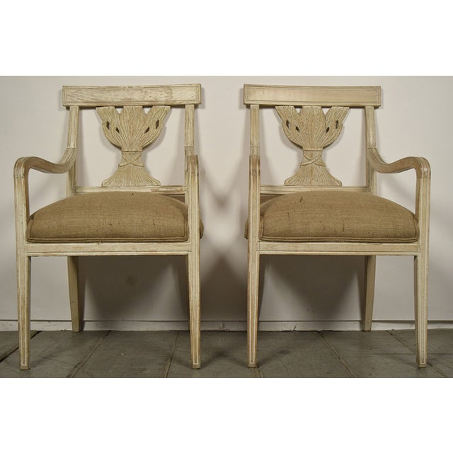 Image of Vintage Painted Dining Chairs - Set of 6