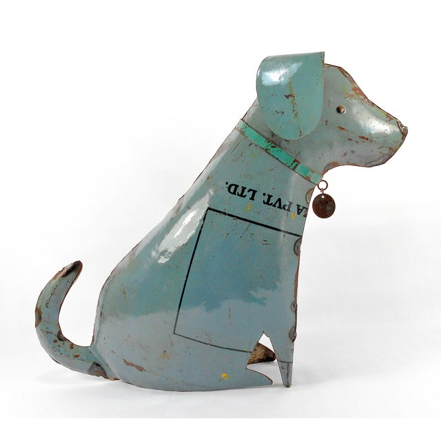 Recycled Metal Dog Sculpture - Image 4 of 8