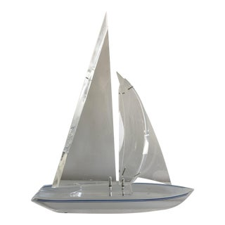 Lucite Sailboat, Signed And Numbered
