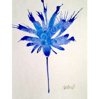 """Blue Bird 3"" Watercolor Painting"