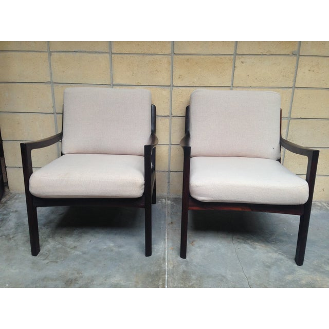 Ole Wanscher Mid-Century Rosewood Chairs - A Pair - Image 4 of 9