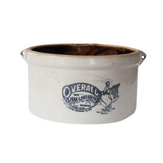 Antique Park & Pollard White Stoneware Crock Overall Crockware Chicken Feeder