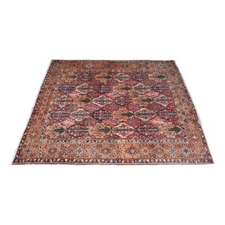 "Old Hand Knotted Persian Bakhtiar Rug- 11'9"" x 14'4"""