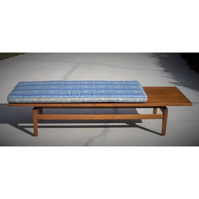 Image of Mid Century Modern Jens Risom Walnut Bench/Table