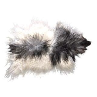 Grey & White Icelandic Sheepskin