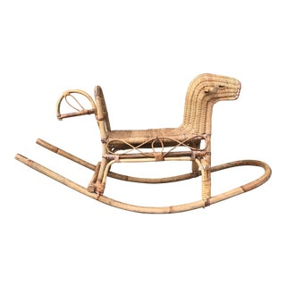 Rattan Childs Rocking Horse