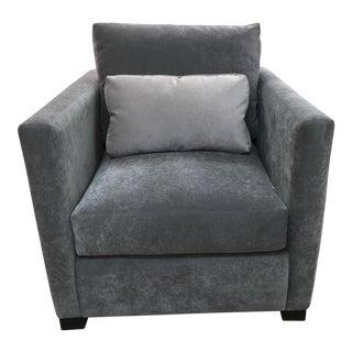 Burton James Velvet & Walnut Vero Chair