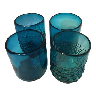 Hand Blown Glasses - Set of 4