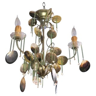 Murano Crystal & Sea Shell Chandelier