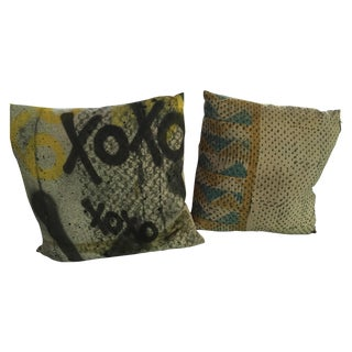 Graffiti Pillows - Pair