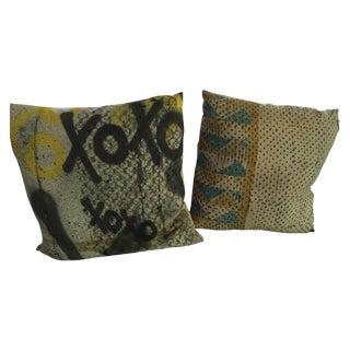 Graffiti Pillows - Pair