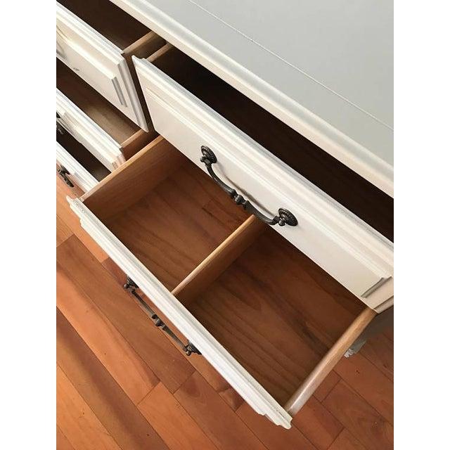 Soft Gray Drexel Mid-Century Dresser Buffet Sideboard - Image 7 of 11