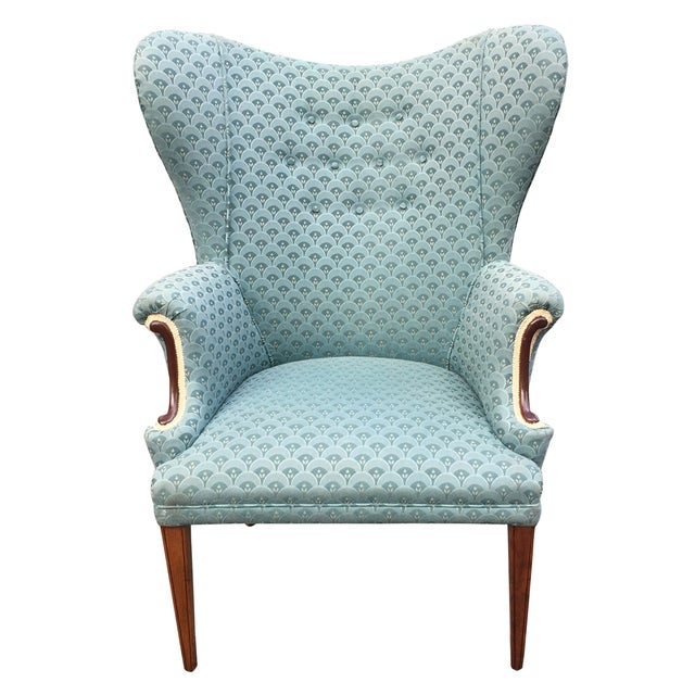 Image of 1950s Wing Back Chair
