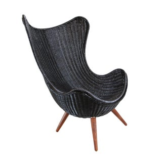 Ebony Wicker Egg Chair
