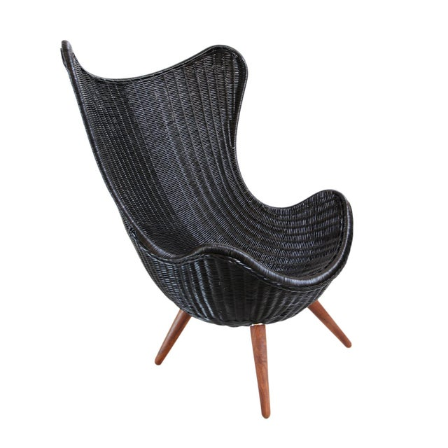 Ebony Wicker Egg Chair - Image 1 of 4