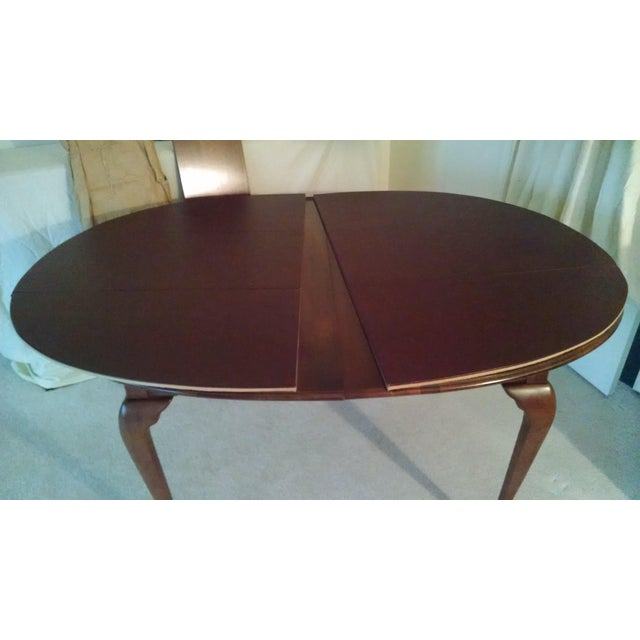 Pennsylvania House Solid Cherry Dining Table & Chairs - Set of 7 - Image 4 of 8
