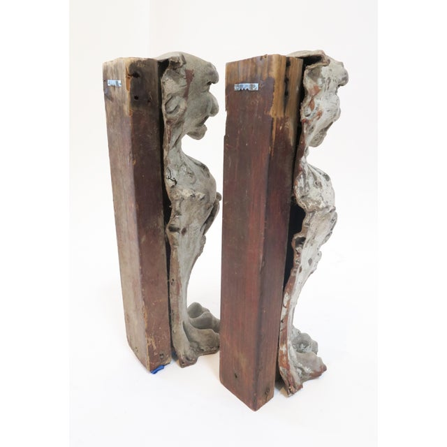 Image of Lion Fireplace Bracket Molds - A Pair