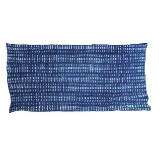 African Batik Blue Throw