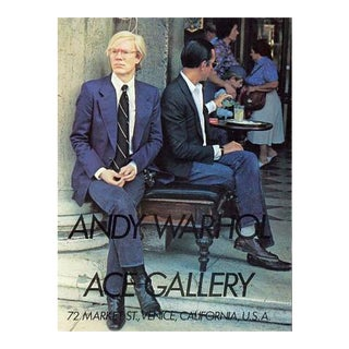 Vintage Andy Warhol Gallery Promotion
