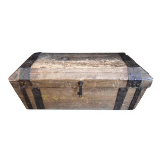 Asian Distressed Wood Trunk