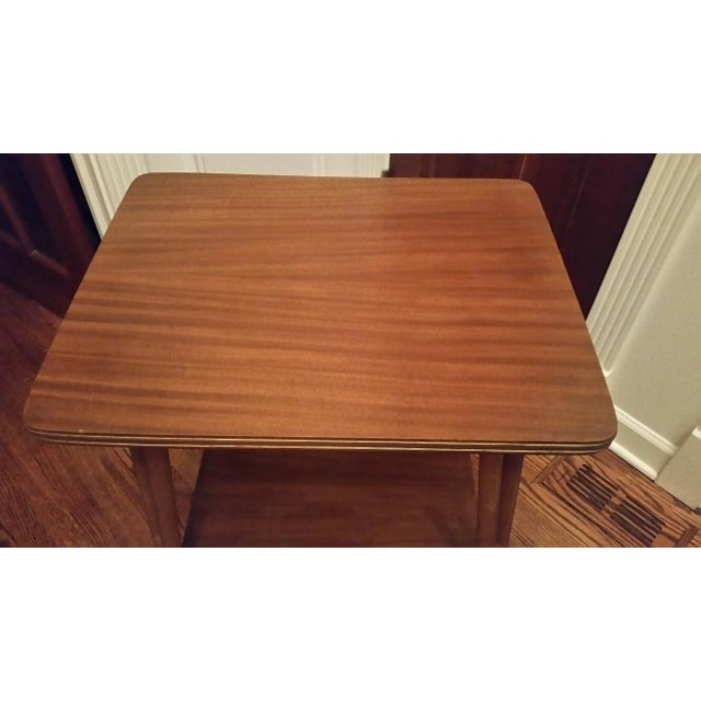Image of Mid-Century Modern Rolling Side Table