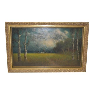 1919 California Landscape Oil Painting