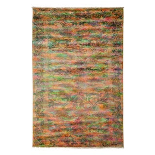 "Vibrance, Hand Knotted Contemporary Wool Area Rug - 5' 0"" X 7' 5"""
