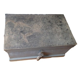 Antique Wood Carpenter Tool Chest Trunk