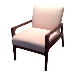 Taupe Mid-Century Modern Armchair