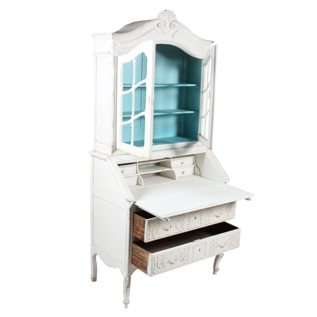 Image of French Louis XV Style Secretary Desk