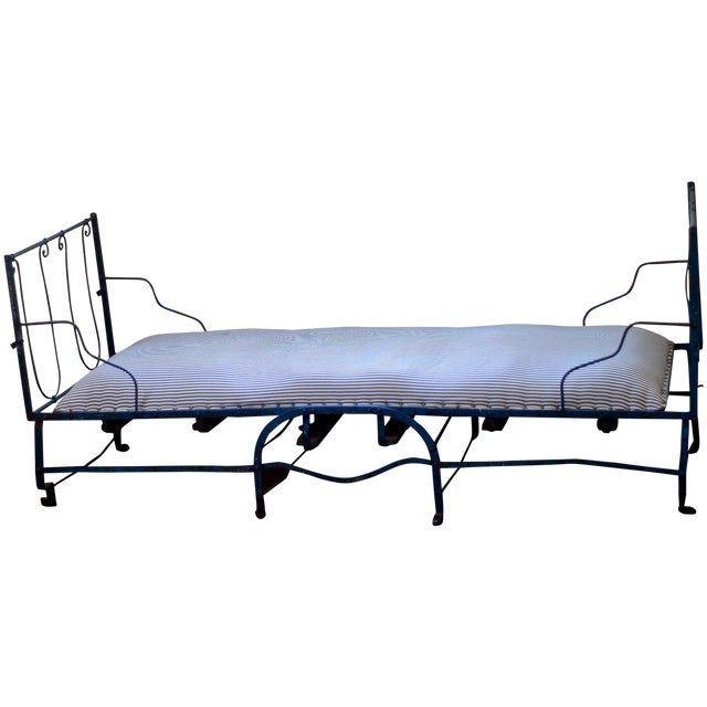 19th Century Antique French Scrolling Iron Daybed - Image 1 of 10