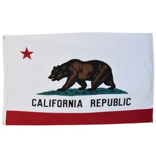 Large Vintage California Republic State Bear Flag