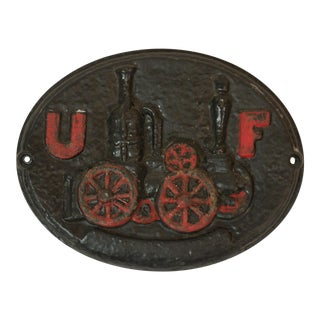 United Firemen Cast Iron Insurance Plaque