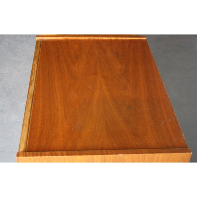 Mid-Century Book-Match Walnut End Tables - A Pair - Image 5 of 10