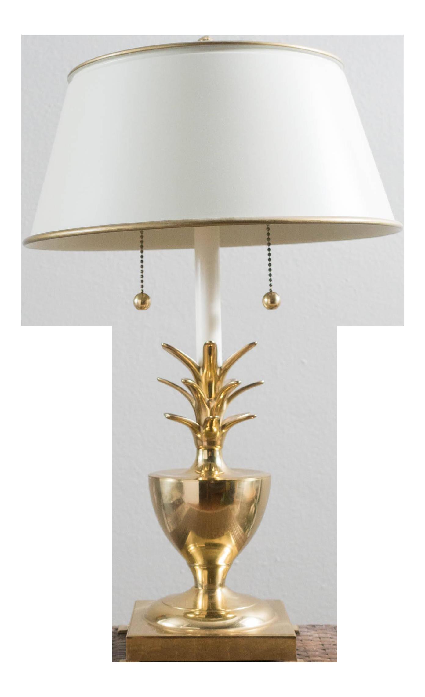 Vintage Brass Pineapple Table Lamp