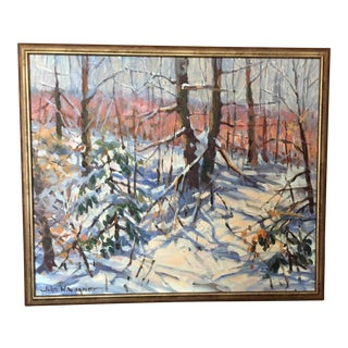 John W. Wagner Acrylic Landscape Painting