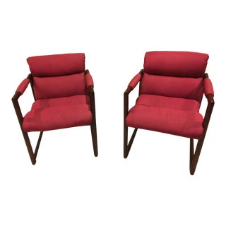 David Edward Mid-Century Arm Chairs - A Pair