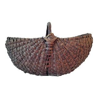 Vintage Wood Gathering Buttocks Basket
