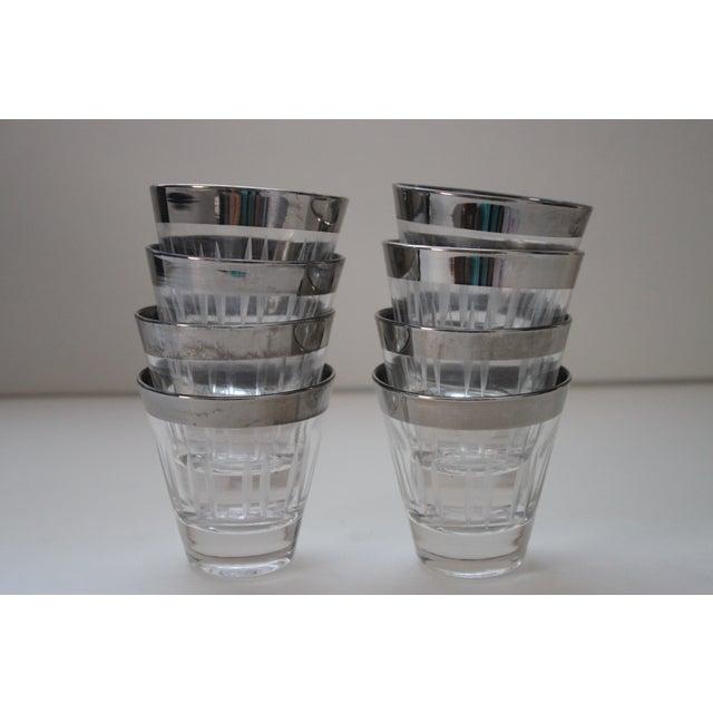 Silver Rimmed Shot Glasses - Set of 8 - Image 2 of 5