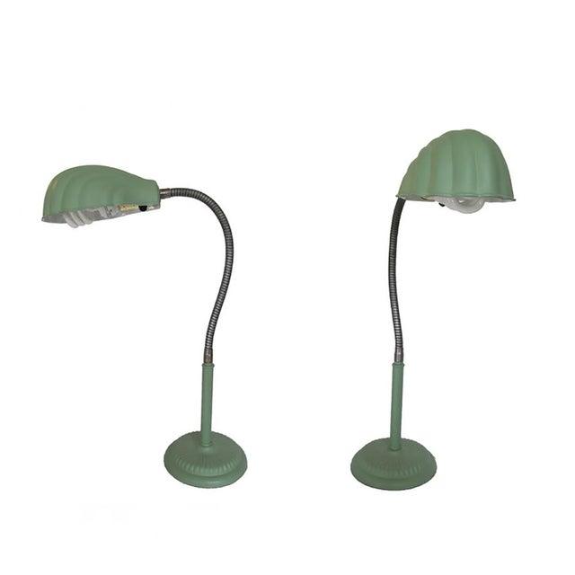 Retro Gooseneck Lamps - A Pair - Image 1 of 5