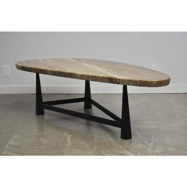 Exceptional Rare Dunbar Travertine Coffee Table By Edward Wormley Decaso