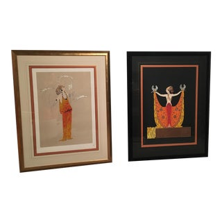 Erté Love & Beauty Serigraphs - A Pair