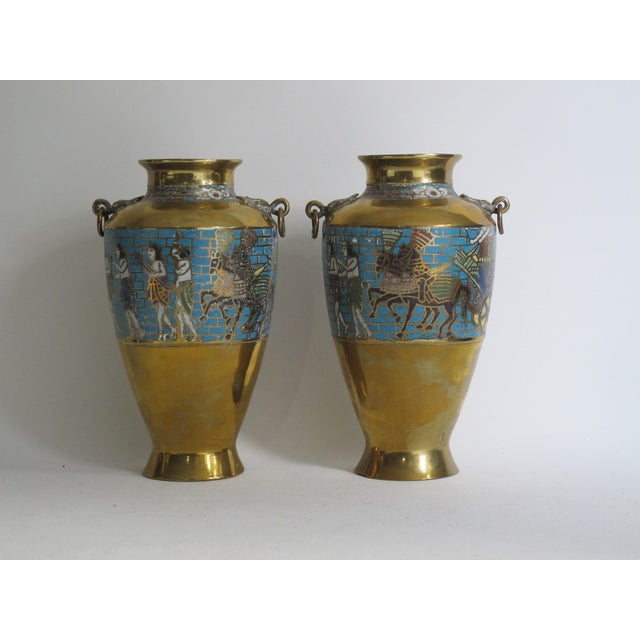 Egyptian Revival Urns - A Pair - Image 3 of 9