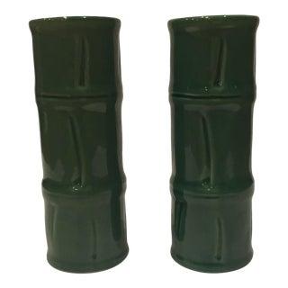 Libbey Glass Co. Bamboo Tiki Mugs - A Pair