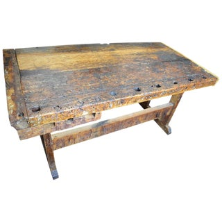 Late 1800s Primitive Wooden Workbench