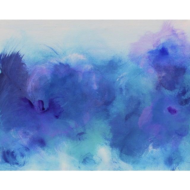 """Bluzing"" Acrylic on Canvas Painting - Image 1 of 2"