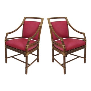 Vintage McGuire Arm Chairs - A Pair