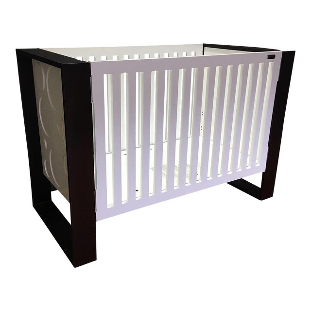 Modern Brown & White Crib by Nursery Works - Image 1 of 9